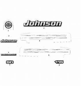 Johnson Decals Graphite Models Parts For 2003 115hp J115plsts Outboard Motor