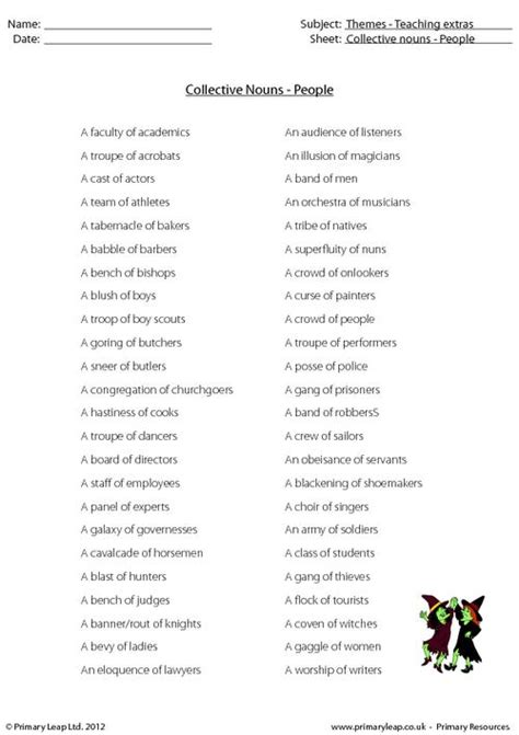 collective nouns people primaryleap co uk