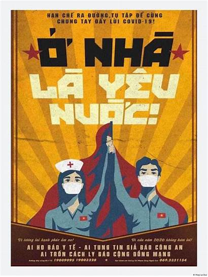 Vietnam Covid Fight Poster Workers Pandemic Coronavirus