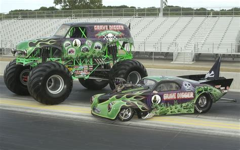 monster truck racing monster truck wallpaper and background image 1680x1050
