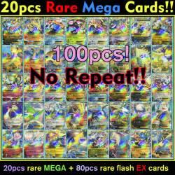 product=100pcs lot pokemon rare 20pcs mega and 80pcs ex card pokemon album play japan battle card album toy for kid charizard ex pokemon