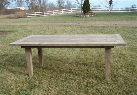 amish rustic plank farmhouse dining table barn wood