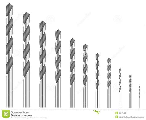 bit clipart black and white drill bits stock vector image 50217478