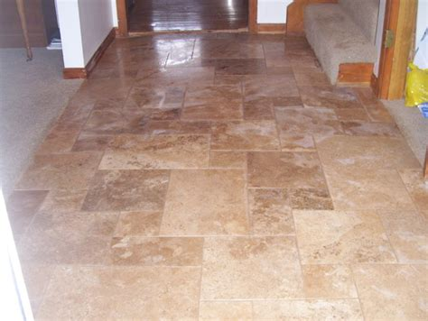 travertine flooring contemporary entry kansas city by custom tile - Tile Flooring Kansas City