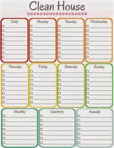 Schedule Template by S Notebook 5 Printable Cleaning Schedules
