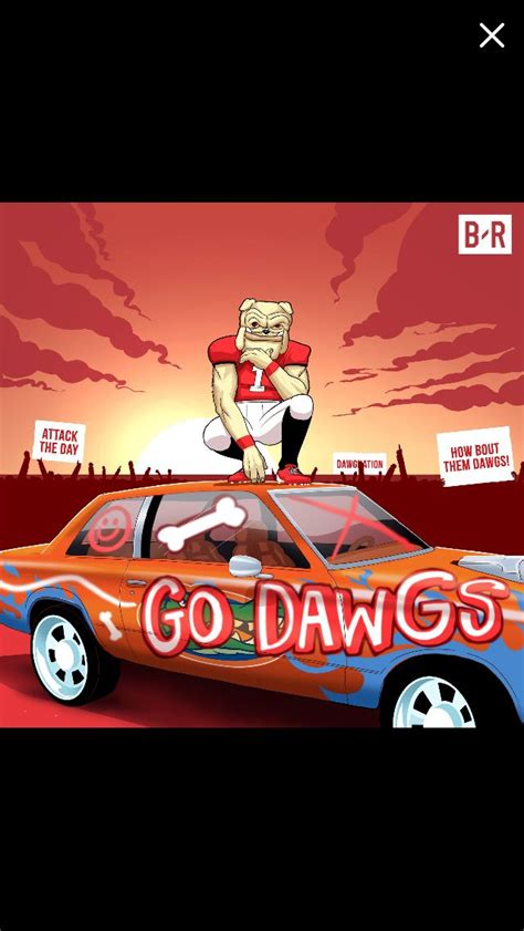 pin  steve jones  dawg nation georgia bulldogs