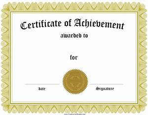 Award Certificate Template Certificate Templates Best Free