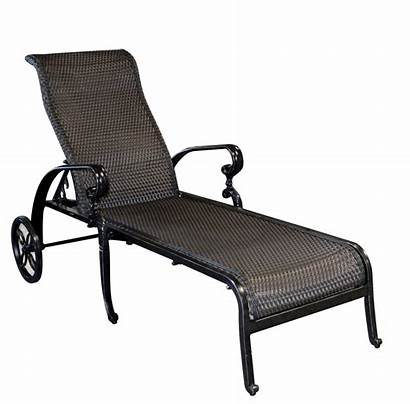 Chaise Lounge Outdoor Wheels Adjustable Woven Brown