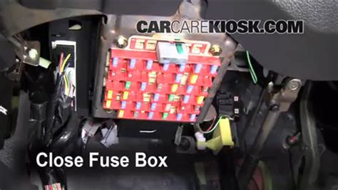 interior fuse box location   ford mustang