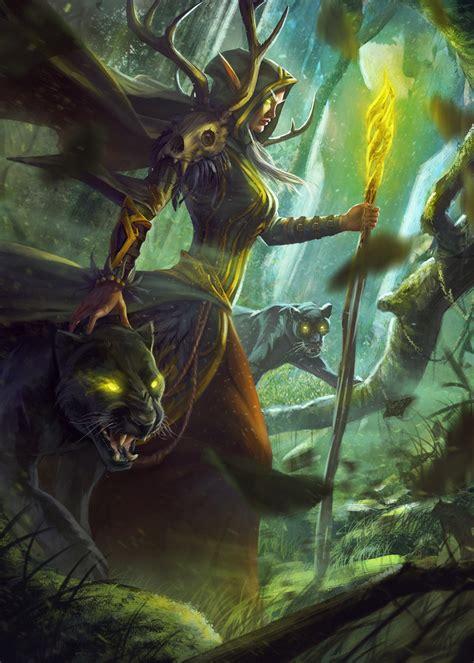 elf character portrait fantasy  elven grove druid