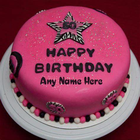 write   happy birthday pink star beautiful cake images