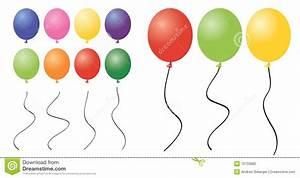 Balloon Clipart Pieces stock vector. Illustration of ...