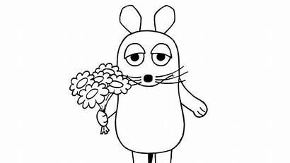 Maus Ausmalbilder Blumen Sendung Zum Ausmalen Ausdrucken