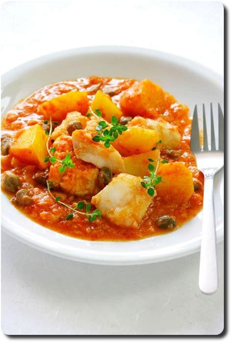 baccal 224 al pomodoro morue en sauce tomate pomme de terre