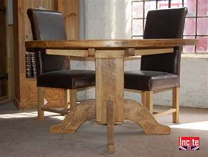 Plank Round Table Handcrafted by Incite Interiors Derby