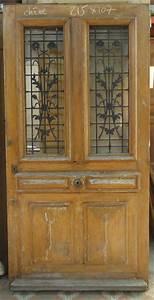 Grille Porte D Entrée : portes d 39 entree anciennes ajourees un vantail vente de ~ Melissatoandfro.com Idées de Décoration