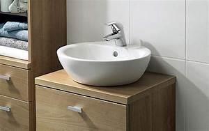 meuble a vasque a poser With salle de bain design avec vasque à poser ronde