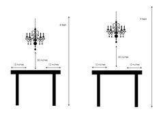 Proper Chandelier Height by The Correct Height To Hang Your Dining Room Chandelier Is