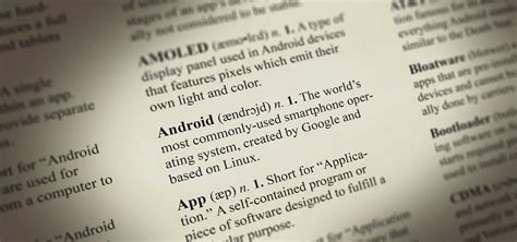 Bid Dictionary The Big Android Dictionary A Glossary Of Terms You Should