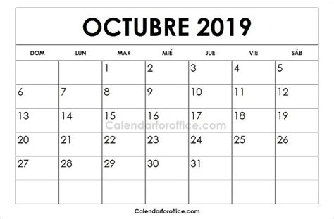 october  calendar spanish excel calendar template