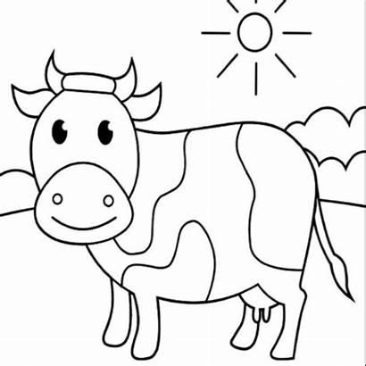 Coloring Cow Kleurplaat Koe Koeien Please Topkleurplaat