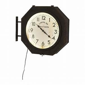 Horloge Murale Led : horloge murale hotel du st martin led kare design ~ Teatrodelosmanantiales.com Idées de Décoration