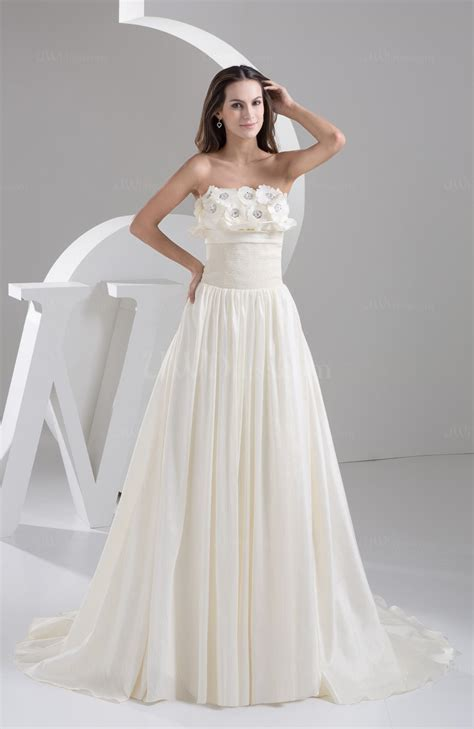 cream inexpensive bridal gowns western strapless full