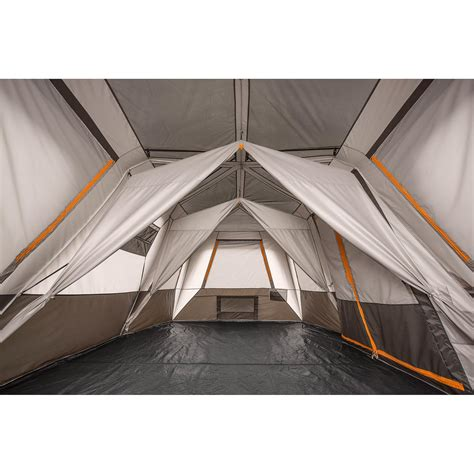 3 room cabin tent bushnell shield series 12 person 3 room instant cabin tent
