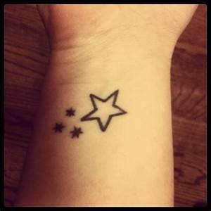 My (right) wrist tattoo. Harry Potter book stars & star ...