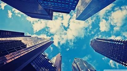 Buildings Sky Clouds