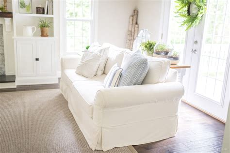 pottery barn slipcovered pb comfort sofa review