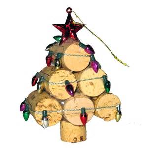 recycled wine cork mini christmas tree ornament youtube