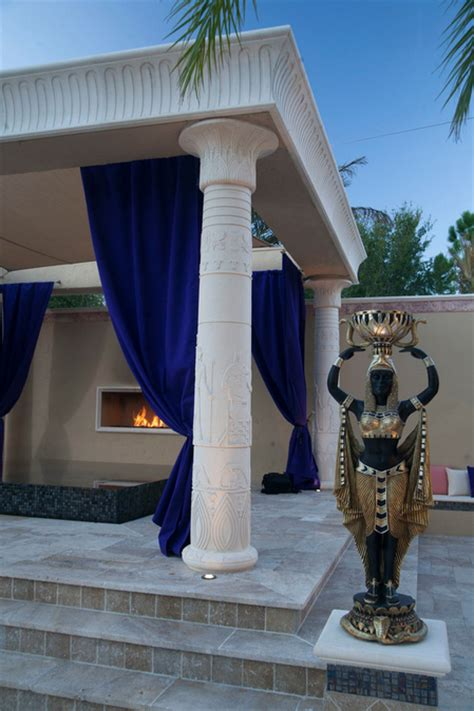 awesome egyptian themed swimming pool homes   rich
