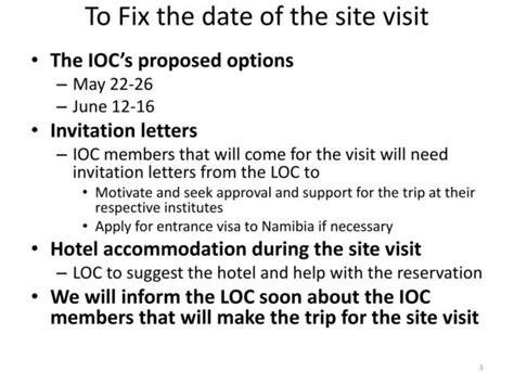 invitation letter  site visit