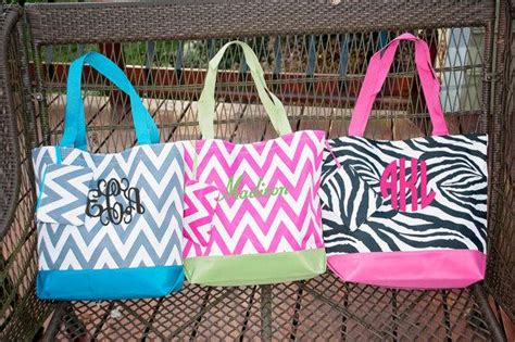 monogrammed beach bags  fashion bags
