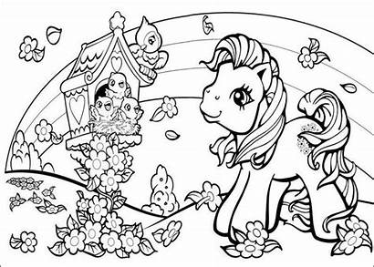 Pony Coloring Pages Mlp Printable Pretty Disney