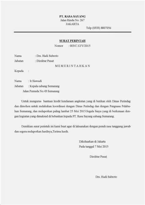 Contoh Surat Perintah Tugas Perjalan Dinas by Pembelajaran Otomatisasi Perkantoran Surat Surat Dinas