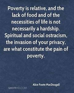 Alice Foote Mac... Food Poverty Quotes