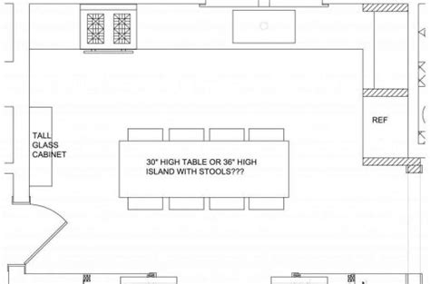 simple kitchen island plans simple kitchen floor plan house floor plans 5240
