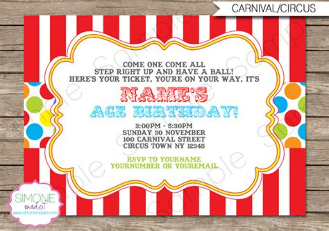 carnival invitation 26 carnival birthday invitations free psd vector eps ai format free premium