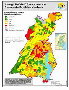 Health Of Freshwater Streams In The Chesapeake Bay