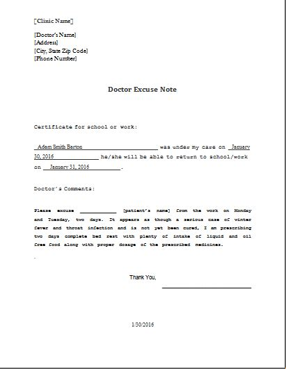 medical note excuse letter from doctor go search for tips tricks cheats search at