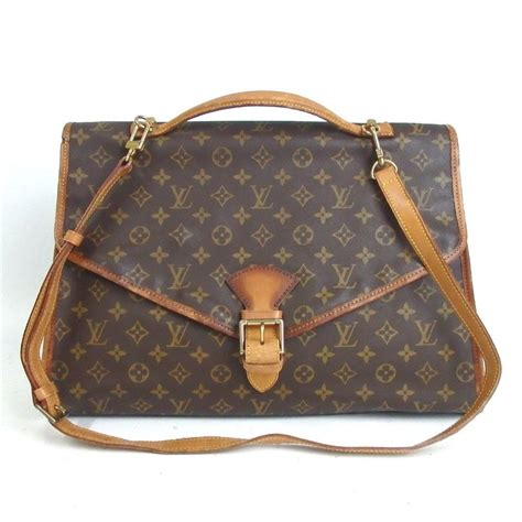 louis vuitton bel air monogram canvas laptop bag tradesy