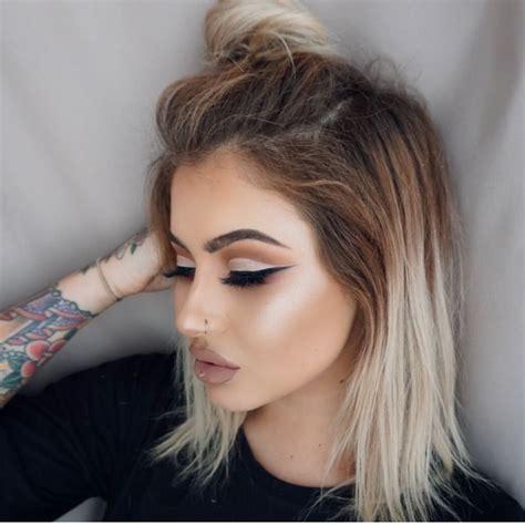Ombré Brown To White Hair Pinterest Brown Hair