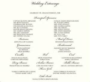 wedding invitation sample format with entourage matik for With wedding invitation with entourage maker