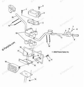 Polaris Atv 2006 Oem Parts Diagram For Handlebar  Headlight