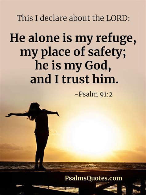 psalm      refuge  place  safety