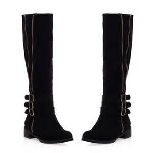 womens wide calf boots size 11 womens biker low heel wide calf high leg knee boots plus size ebay