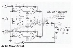 3 Channel Audio Mixer Circuit