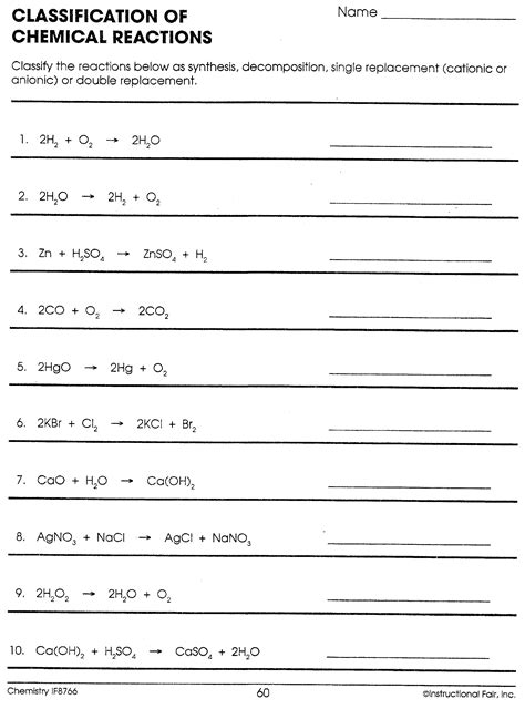 Basic Chemistry Worksheets Worksheets For All  Download And Share Worksheets  Free On